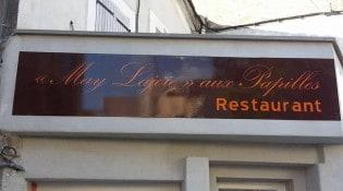 May Lajoie aux Papilles - La façade du restaurant