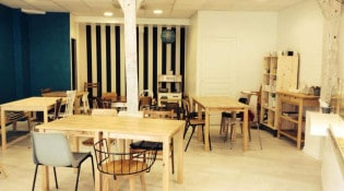 Café Albertine - La salle de restauration