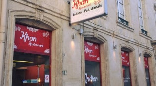 Khan - La façade du restaurant