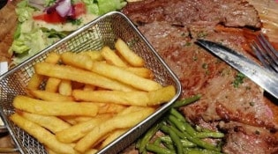 Brasserie les Cheminots - Un steak frites