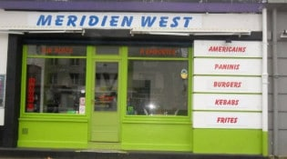 Meridien west - La façade du restaurant