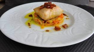 L'hermine - Croustillant de saumon aux petits légumes