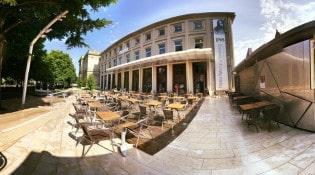 Café du Théâtre de Strasbourg - La façade du restaurant avec la terrasse