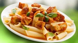 La cantine - Une assiette de pâtes