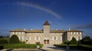 Château de Besseuil - La façade du restaurant