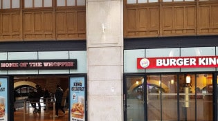 Burger King - La façade du restaurant